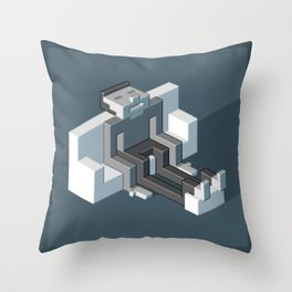 Couch slouch pixel artwork Throw Pillow