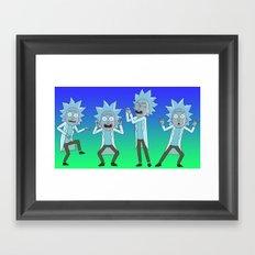 Tiny Ricks Dance Moves Framed Art Print