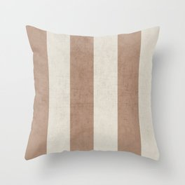 vintage natural stripes Throw Pillow