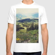 Down in the Valley Mens Fitted Tee MEDIUM White