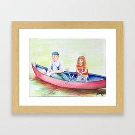 High Side of the Canoe Framed Art Print