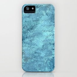 Promise, textured abstract turquoise art iPhone Case