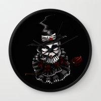 oz Wall Clocks featuring Oz -Red by artlandofme