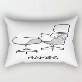 Mid-Century - Eames Lounge Chair Sketch (BN) Rectangular Pillow