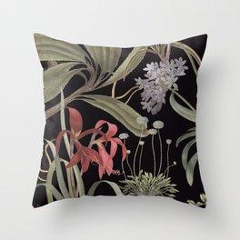 Dark Botanicals (pillow variant) Throw Pillow