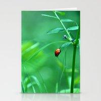 ladybug Stationery Cards featuring Ladybug by Arevik Martirosyan