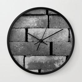Construction Block Monochrome Wall Clock