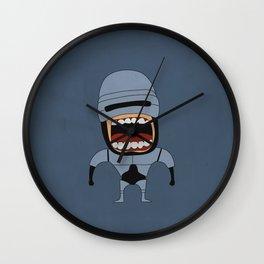 Screaming Robocop Wall Clock