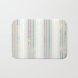 Colorful abstract pastel pink green watercolor stripes Bath Mat