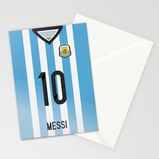 World Cup 2014 - Argentina Messi Shirt Style Stationery Cards