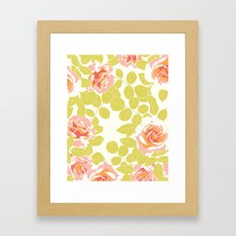 rose garden pink Framed Art Print