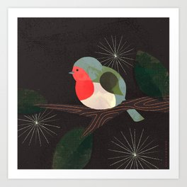 Holiday Robin Art Print