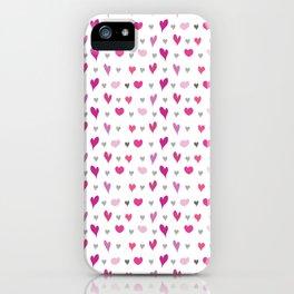 Valentine Hearts iPhone Case