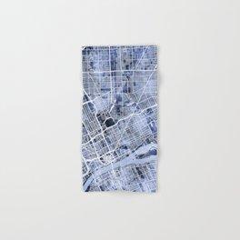 Detroit Michigan City Map Hand & Bath Towel