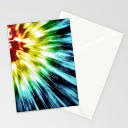 Abstract Dark Tie Dye Stationery Cards