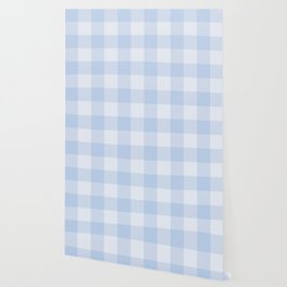 Gingham Pattern - Blue Wallpaper