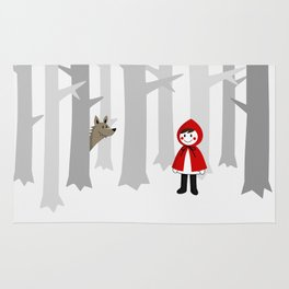 alone in the woods Rug