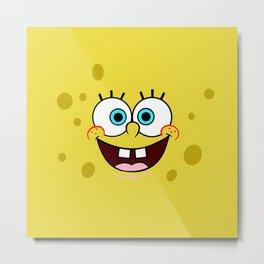 Spongebob Face Metal Print