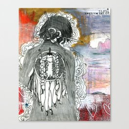 Prayer to the Mystery Canvas Print