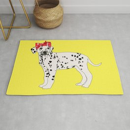 Political Pup - When We All Vote Dalmatian Dog Rug