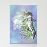 trex Stationery Cards featuring weed trex by raulovsky (Raúl Ramos Melo)
