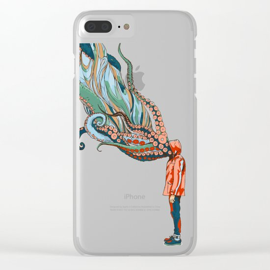 Octopus in me Clear iPhone Case