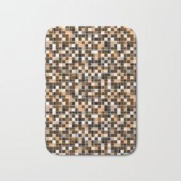 Beige, white, black, brown mosaic. Bath Mat