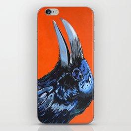 Orange Crow iPhone Skin
