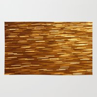 gold glitter Area & Throw Rugs featuring Gold Glitter 1394 by Cecilie Karoline