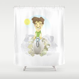 bicycle, the best transport Shower Curtain