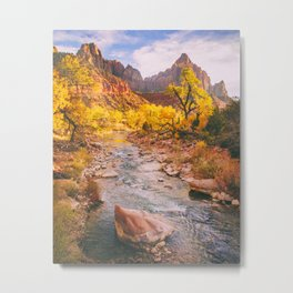 River Runs Through Zion Fine Art Print Metal Print