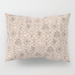 Retro asian pattern Pillow Sham