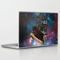 star lord Laptop & iPad Skins featuring Star Lord Legendary Outlaw by Victoria Jennings