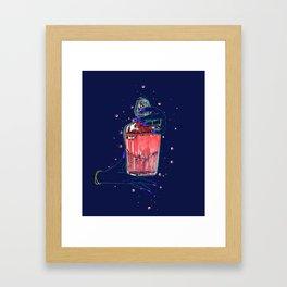Bad Brew Pink Jinx Framed Art Print