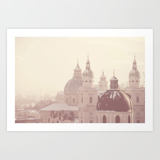 beneath her snow covered domes ... Art Print