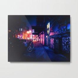 Lower East Side - Night on Rivington Street Metal Print