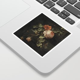 Botanical Rose And Snail Sticker