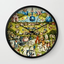Hieronymus Bosch - The Garden Of Earthly Delights Wall Clock
