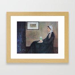 Whistler's Mother's Secret Addiction Framed Art Print