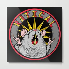 Ratical Metal Print