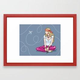 Hippie traveller Framed Art Print