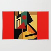 kandinsky Area & Throw Rugs featuring THE GEOMETRIST by THE USUAL DESIGNERS