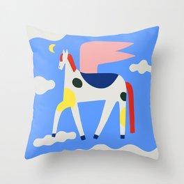 Primary Pegasus Throw Pillow
