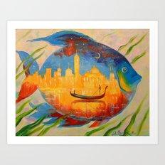 Magic fish Art Print