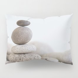 Stone Balance pebble cairn and water Pillow Sham