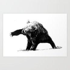 The Big Bad Bear by Chuchuligoff Art Print