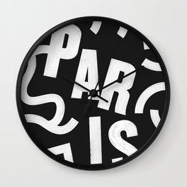Paris Routes Wall Clock