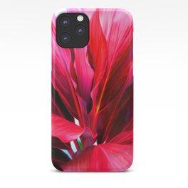 Red Ti Leaf iPhone Case