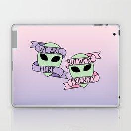 Friendly Aliens (in Unicorn) Laptop & iPad Skin