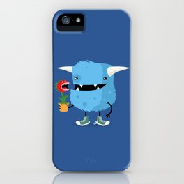 Monster and his pet plant carnivore iPhone Case